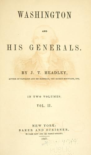 Download Washington and his generals.