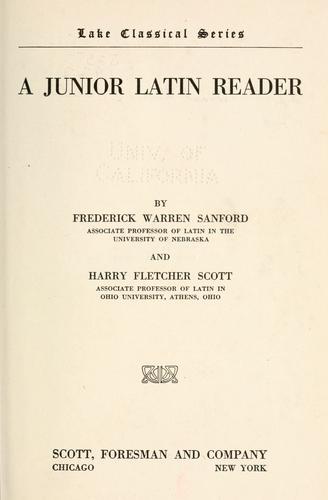 Download A junior Latin reader