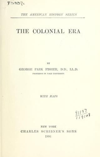 Download The colonial era.