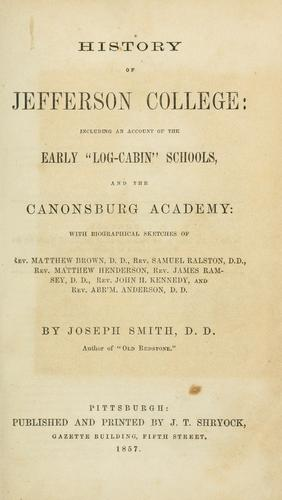 History of Jefferson College