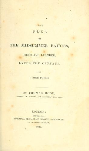 The plea of the midsummer fairies