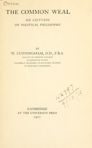 Download The common weal