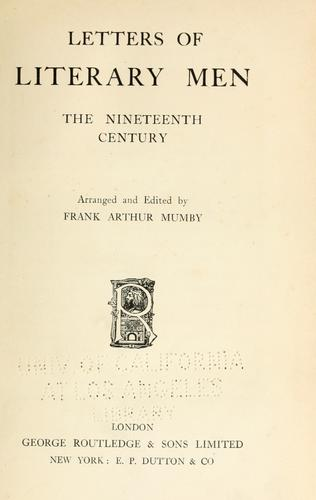 Letters of literary men…