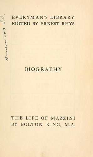 The life of Mazzini