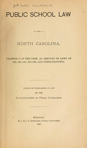 Public school law of North Carolina.