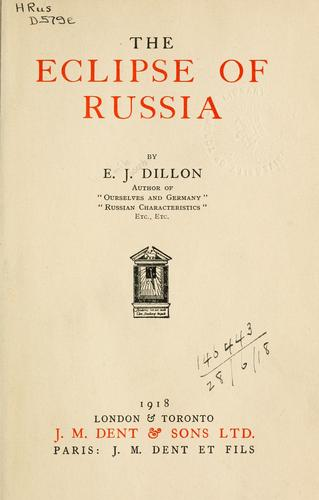 Download The eclipse of Russia.