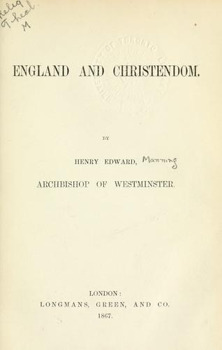 England and Christendom.