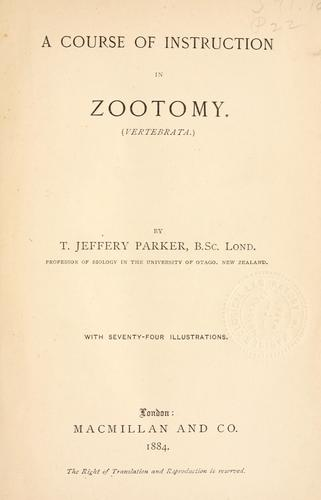A course of instruction in zootomy (vertebrata).