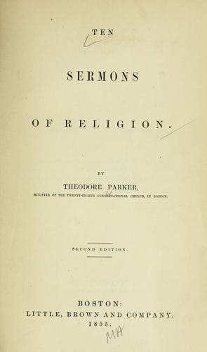 Download Ten sermons of religion.