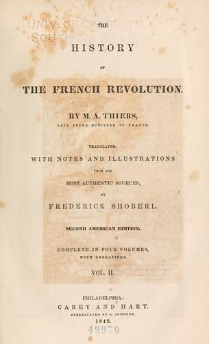 The history of the French revolution.