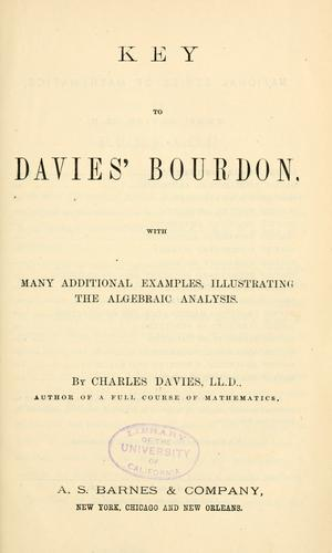 Download Key to Davies' Bourdon