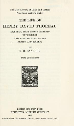 Download The life of Henry David Thoreau