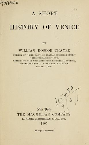 Download A short history of Venice.