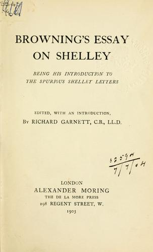Essay on Shelley