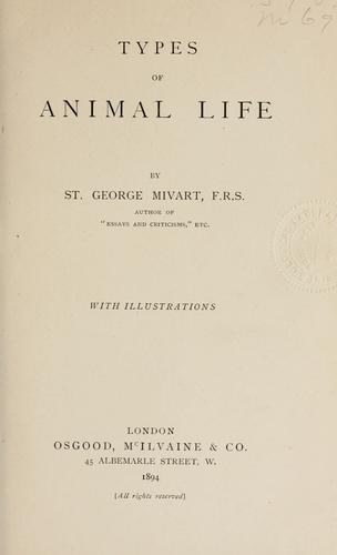 Download Types of animal life.