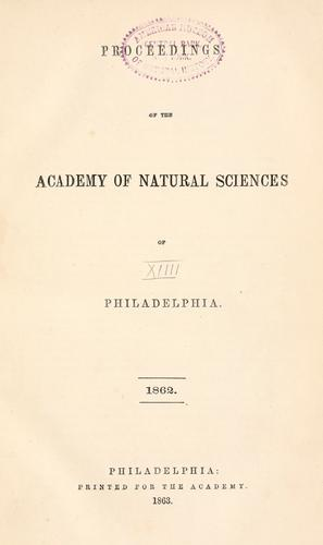 Download Proceedings of the Academy of Natural Sciences of Philadelphia, Volume 14