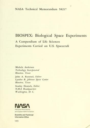 Download BIOSPEX, Biological space experiments