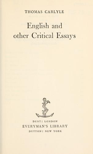 Download English and other critical essays.
