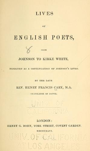 Lives of English poets