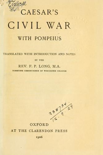 Download Caesar's Civil war with Pompeius