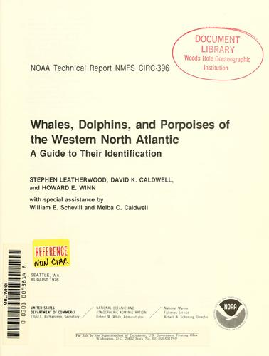 Download Whales, dolphins, and porpoises of the western North Atlantic