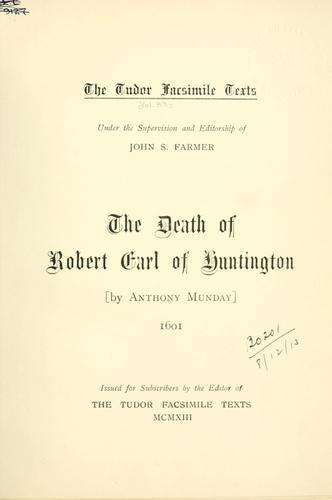 The death of Robert, Earl of Huntington.