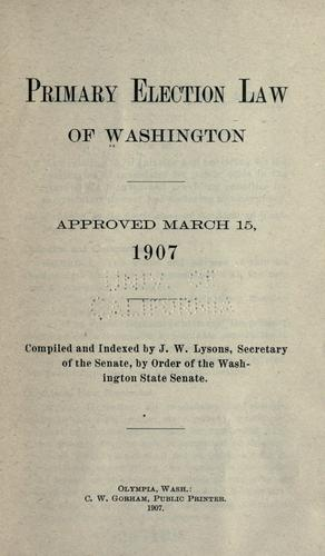 Download Primary election law of Washington.