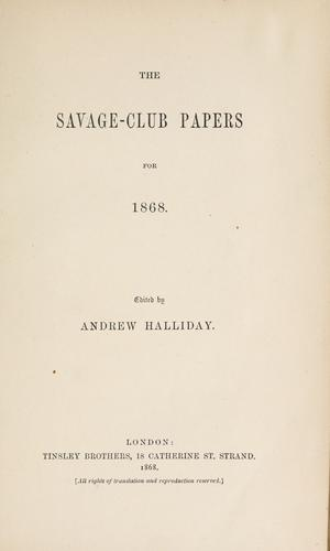The Savage-club papers.
