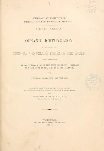 Download Oceanic ichthyology