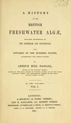 A history of the British freshwater Alg℗æ