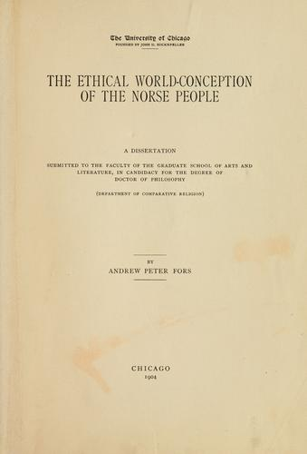 Download The ethical world-conception of the Norse people.