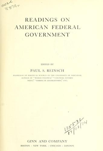 Download Readings on American federal government.