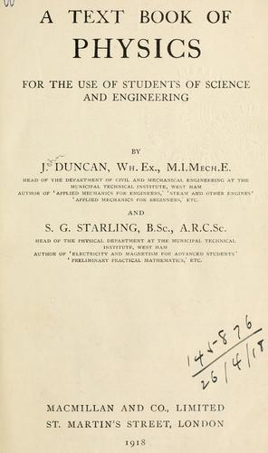 A text book of physics, for the use of students of science and engineering