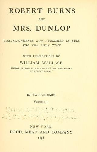 Robert Burns and Mrs. Dunlop
