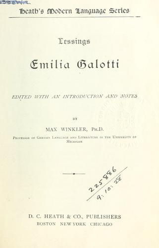 Emilia Galotti.