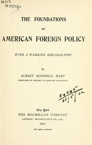 Download The foundations of American foreign policy