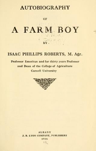 Download Autobiography of a farm boy
