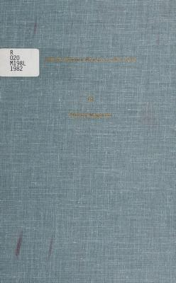 Cover of: Library Science Research, 1974-1979 | Shirley Magnotti