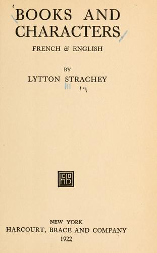 Books and characters, French & English