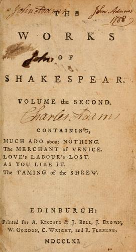 The works of Shakespear by William Shakespeare