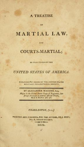 A treatise on martial law, and courts-martial