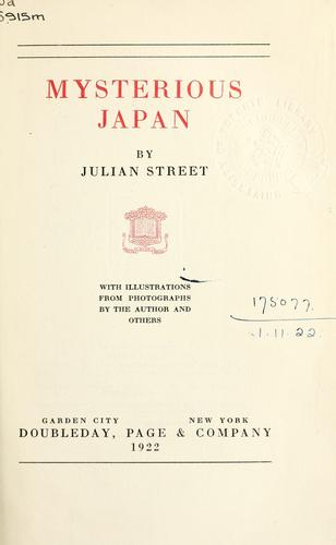 Mysterious Japan