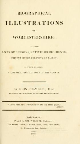 Biographical illustrations of Worcestershire by Chambers, John