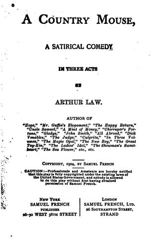 A country mouse by Law, Arthur