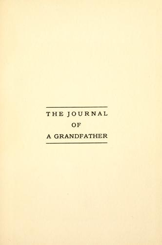 The  journal of a grandfather.