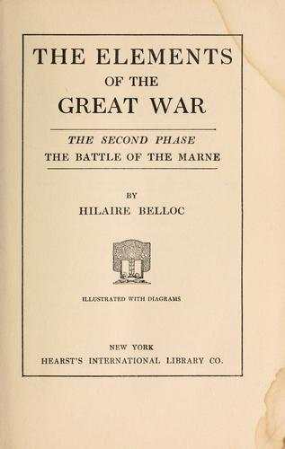 A general sketch of the European war by Hilaire Belloc