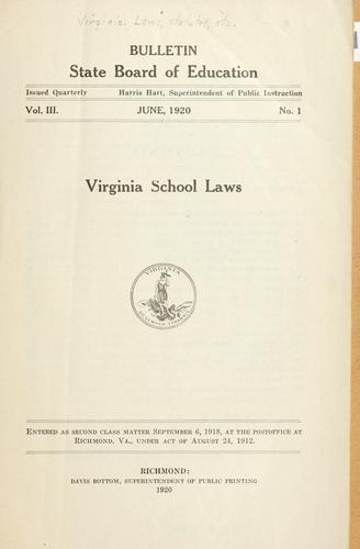 Virginia school laws.