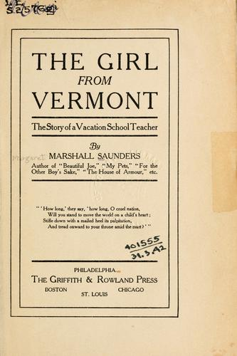 The girl from Vermont by Saunders, Marshall