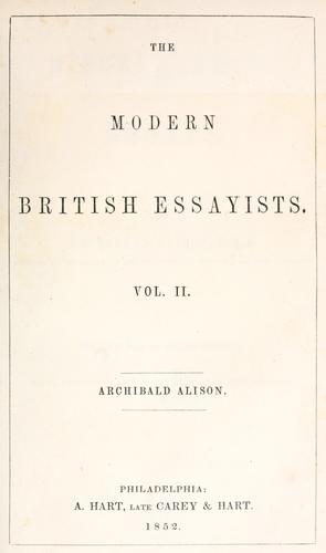 Miscellaneous essays.