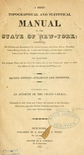 A brief topographical & statistical manual of the state of New-York by Sterling Goodenow